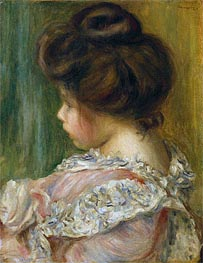 Portrait of a Young Girl   Renoir   Painting Reproduction