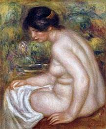 Seated Bather (Gabrielle), undated by Renoir | Painting Reproduction