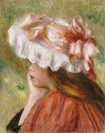 Young Girl in a Red Hat | Renoir | Painting Reproduction