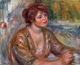 The Cup of Coffee (Portrait of Andree) | Renoir | Painting Reproduction
