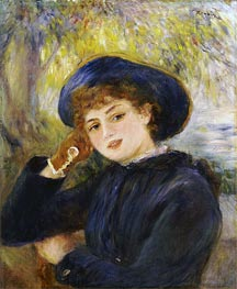 Portrait of Mademoiselle Demarsy | Renoir | Painting Reproduction