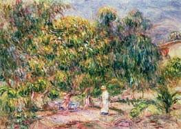 The Woman in White in the Garden of Les Colettes | Renoir | Painting Reproduction
