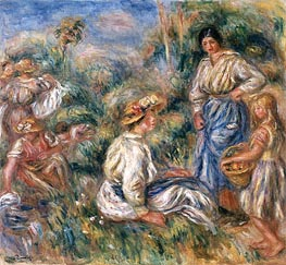 Women in a Landscape | Renoir | Painting Reproduction
