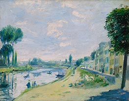 The Banks of the Seine at Bougival | Renoir | Painting Reproduction