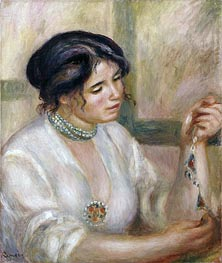 Woman with a Necklace | Renoir | Painting Reproduction