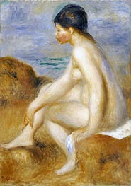 Bather, c.1892/93 by Renoir | Painting Reproduction