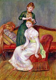 Hair Style | Renoir | Painting Reproduction