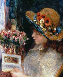 Young Girl Reading   Renoir   Painting Reproduction