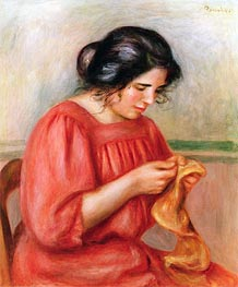 Gabrielle Darning | Renoir | Painting Reproduction