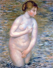 Nude in the Water, 1888 by Renoir | Painting Reproduction