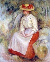 Gabrielle in a Straw Hat | Renoir | Painting Reproduction