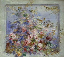 Roses in a Window | Renoir | Painting Reproduction