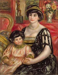 Madame Josse Bernheim-Jeune and her Son Henry | Renoir | Painting Reproduction