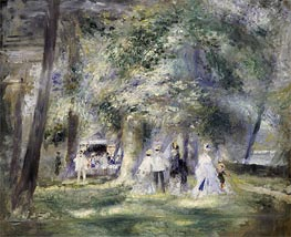 In the Park at Saint-Cloud | Renoir | Painting Reproduction