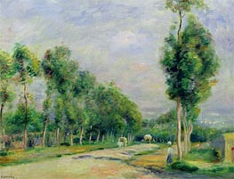 The Road to Versailles at Louveciennes | Renoir | Painting Reproduction