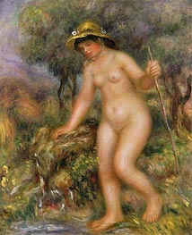 The Source (Gabrielle Nude) | Renoir | Painting Reproduction