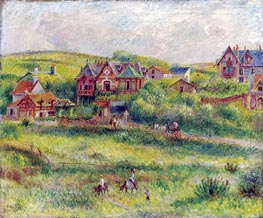 The House of Blanche Pierson, Pourville | Renoir | Painting Reproduction