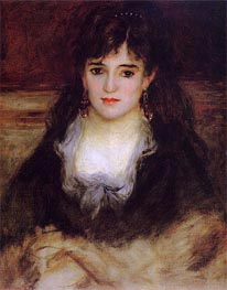 Portrait of a Woman, 1876 by Renoir | Painting Reproduction