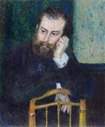 Alfred Sisley, 1876 by Renoir | Painting Reproduction