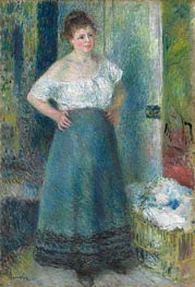 The Laundress | Renoir | Painting Reproduction