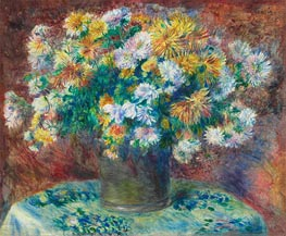 Chrysanthemums, c.1881/82 by Renoir | Painting Reproduction