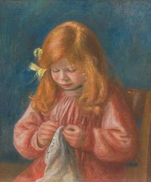 Jean Renoir Sewing, 1899/00 by Renoir | Painting Reproduction