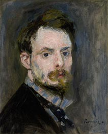 Self-Portrait, c.1875 by Renoir | Painting Reproduction