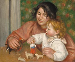 Child with Toys - Gabrielle and the Artist's Son, Jean | Renoir | Painting Reproduction