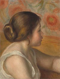 Head of a Young Girl | Renoir | Painting Reproduction