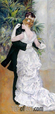 Dance in the City, 1883 | Renoir | Painting Reproduction