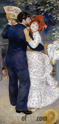 Dance in the Country (Dance at Chatou), 1883 | Renoir | Gemälde Reproduktion