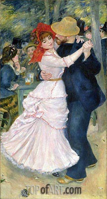 Dance at Bougival, 1883 | Renoir | Painting Reproduction