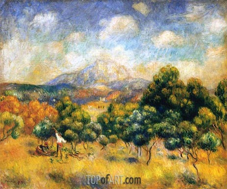 Mount Sainte-Victoire, 1889 | Renoir | Painting Reproduction