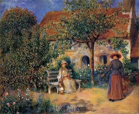 Garden Scene in Brittany, c.1886 | Renoir | Painting Reproduction