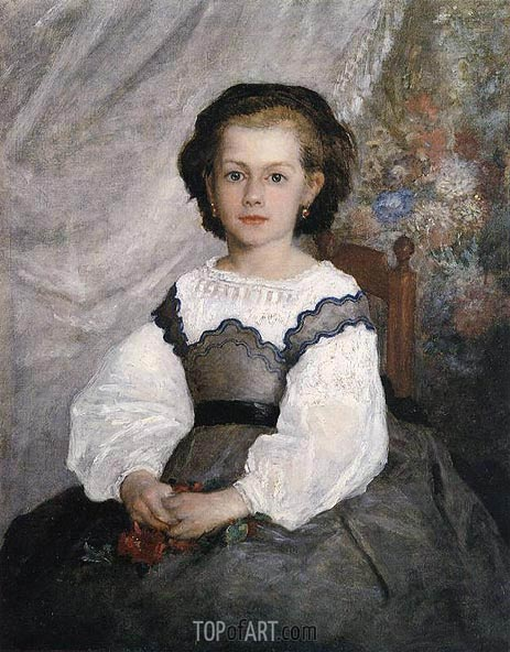 Mademoiselle Romaine Lacaux, 1864 | Renoir | Painting Reproduction