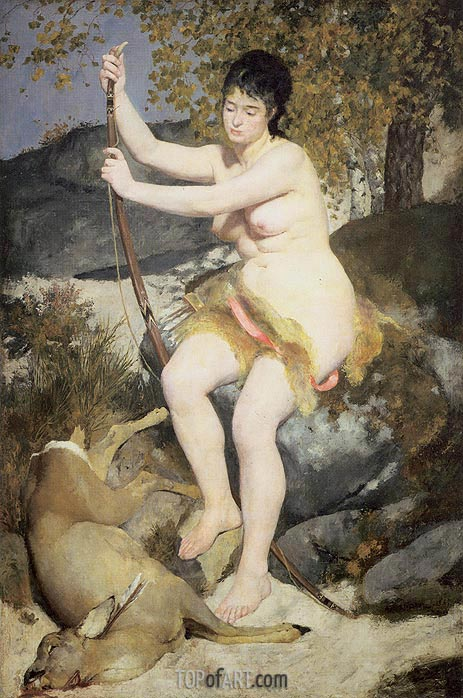 Diana the Huntress, 1867 | Renoir | Painting Reproduction