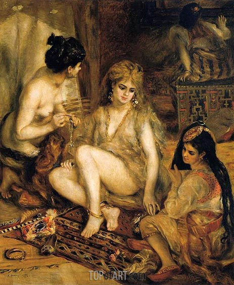 The Harem (Parisian Women Dressed as Algerians), 1872 | Renoir | Painting Reproduction