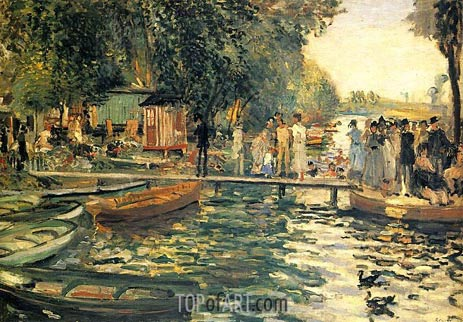 La Grenouillere, 1869 | Renoir | Painting Reproduction