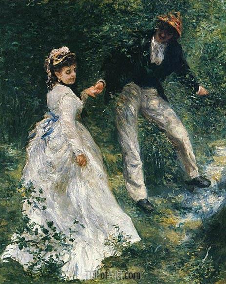 The Promenade, 1870 | Renoir | Painting Reproduction