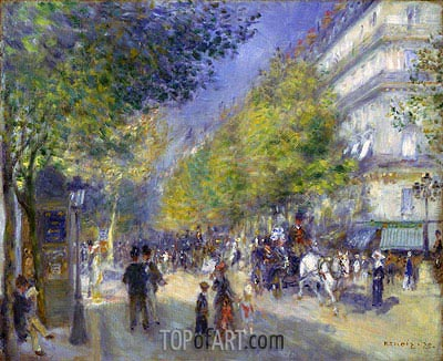 The Boulevards of Paris, 1875 | Renoir | Gemälde Reproduktion