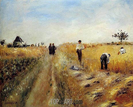 The Harvesters, 1873 | Renoir | Painting Reproduction