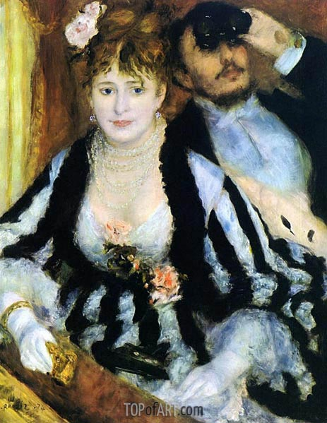 The Box at the Opera (La Loge), 1874 | Renoir | Gemälde Reproduktion
