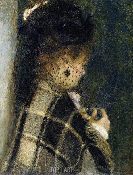 Young Woman with a Veil, c.1875/77 | Renoir | Painting Reproduction