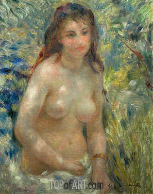 Nude Torso in the Sunlight (Torso of Anna), c.1875/76 | Renoir | Gemälde Reproduktion