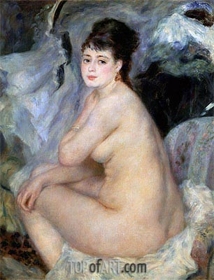 Nude Seated on a Sofa, 1876 | Renoir | Gemälde Reproduktion