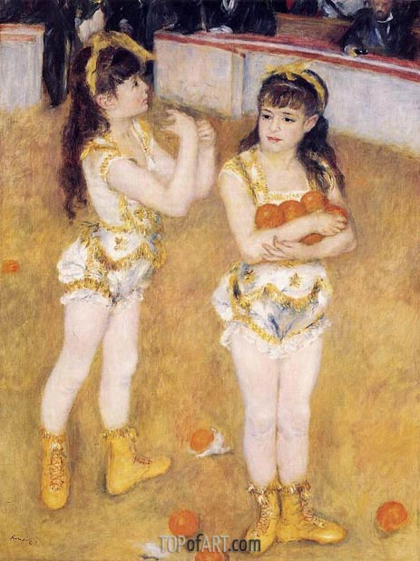 Acrobats at the Cirque Fernando, 1879 | Renoir | Painting Reproduction