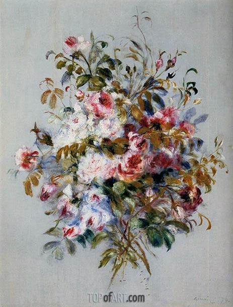 A Bouquet of Roses, 1879 | Renoir | Gemälde Reproduktion