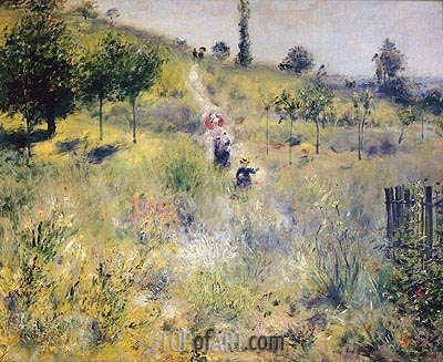 Path Leading through Tall Grass, 1876 | Renoir | Gemälde Reproduktion