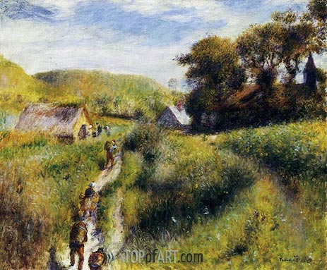 The Grape Harvesters (The Vintagers), 1879 | Renoir | Painting Reproduction