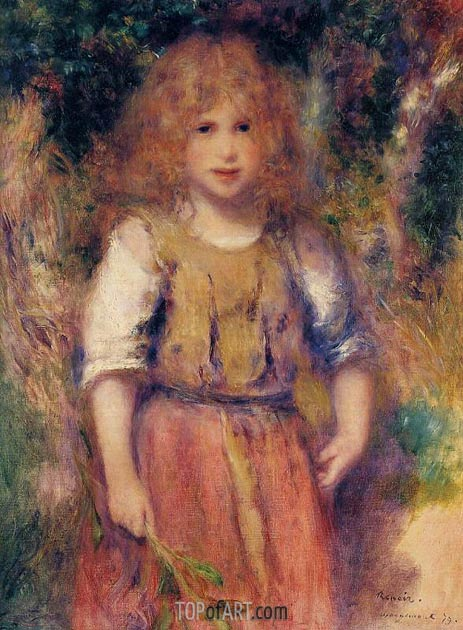 Gypsy Girl, 1879 | Renoir | Painting Reproduction
